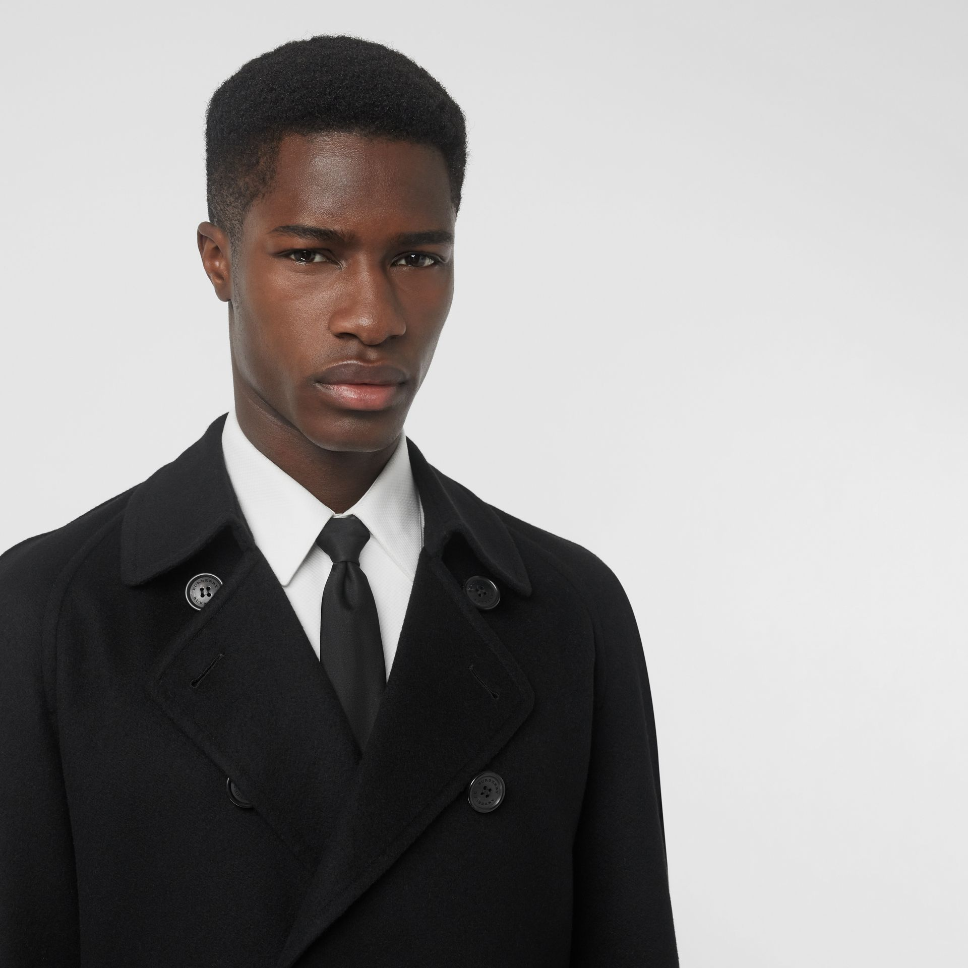 Trench en cachemire double-face (Noir) - Homme | Burberry - photo de la galerie 1