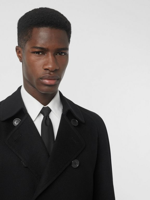Double-faced Cashmere Trench Coat in Black - Men | Burberry Singapore - cell image 1