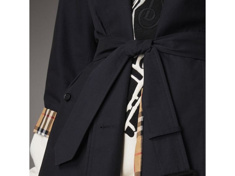 The Brighton – Extra-long Car Coat in Blue Carbon - Women | Burberry - cell image 4