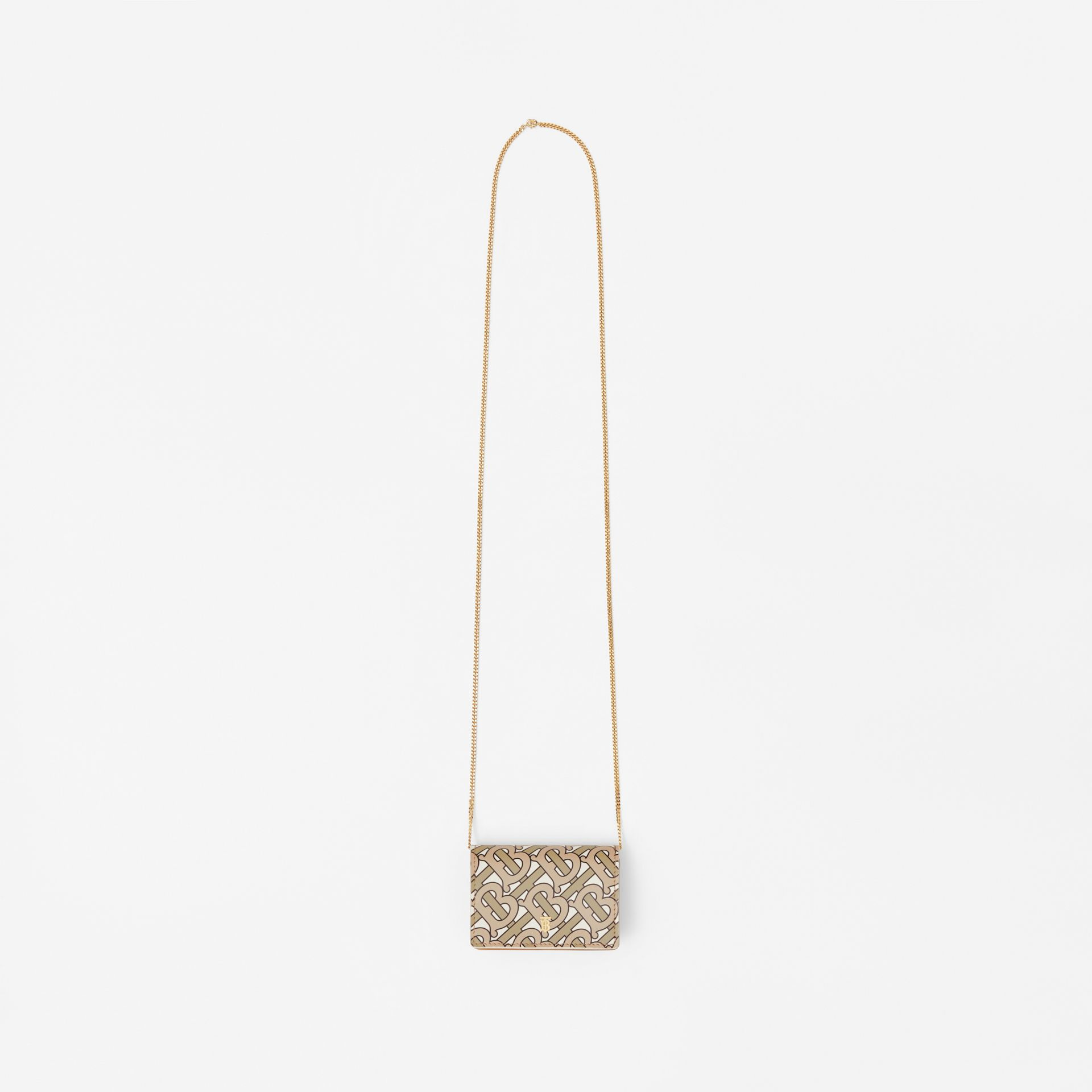 Porte-cartes Monogram avec sangle amovible (Beige) - Femme | Burberry Canada - photo de la galerie 3
