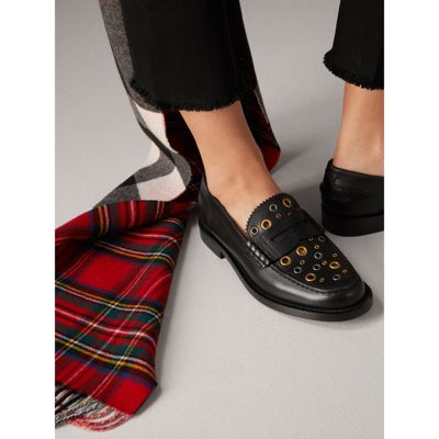 Burberry - Mocassins Penny Loafers en cuir avec œillets - 3