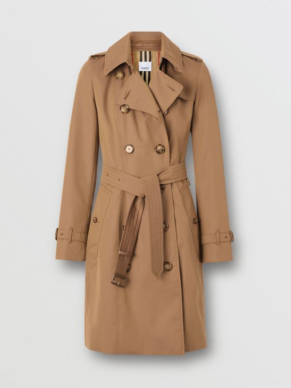 Cotton Gabardine Trench Coat in Warm Taupe - Women | Burberry - cell image 3