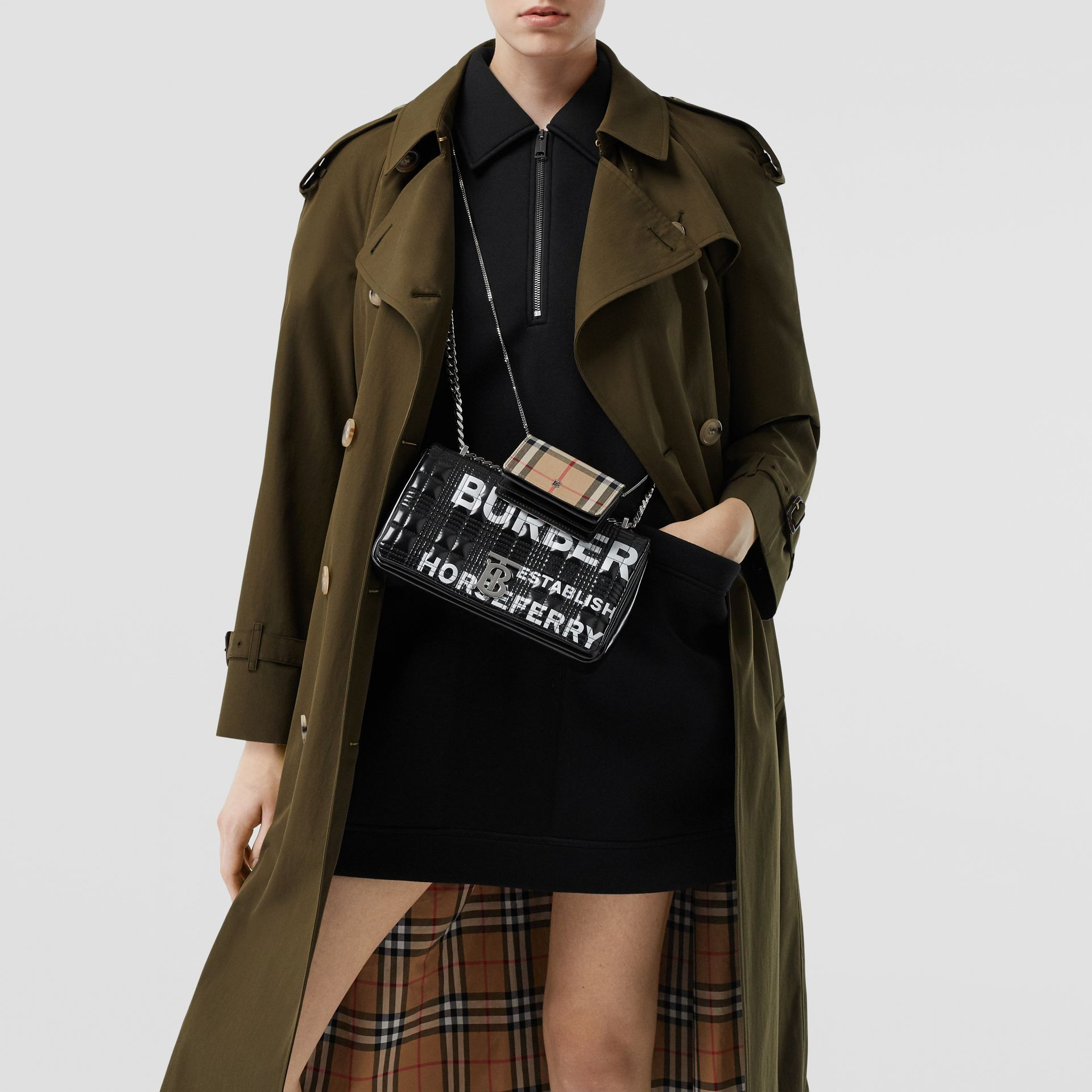 The Long Westminster Heritage Trench Coat in Dark Military Khaki - Women | Burberry Singapore - gallery image 10