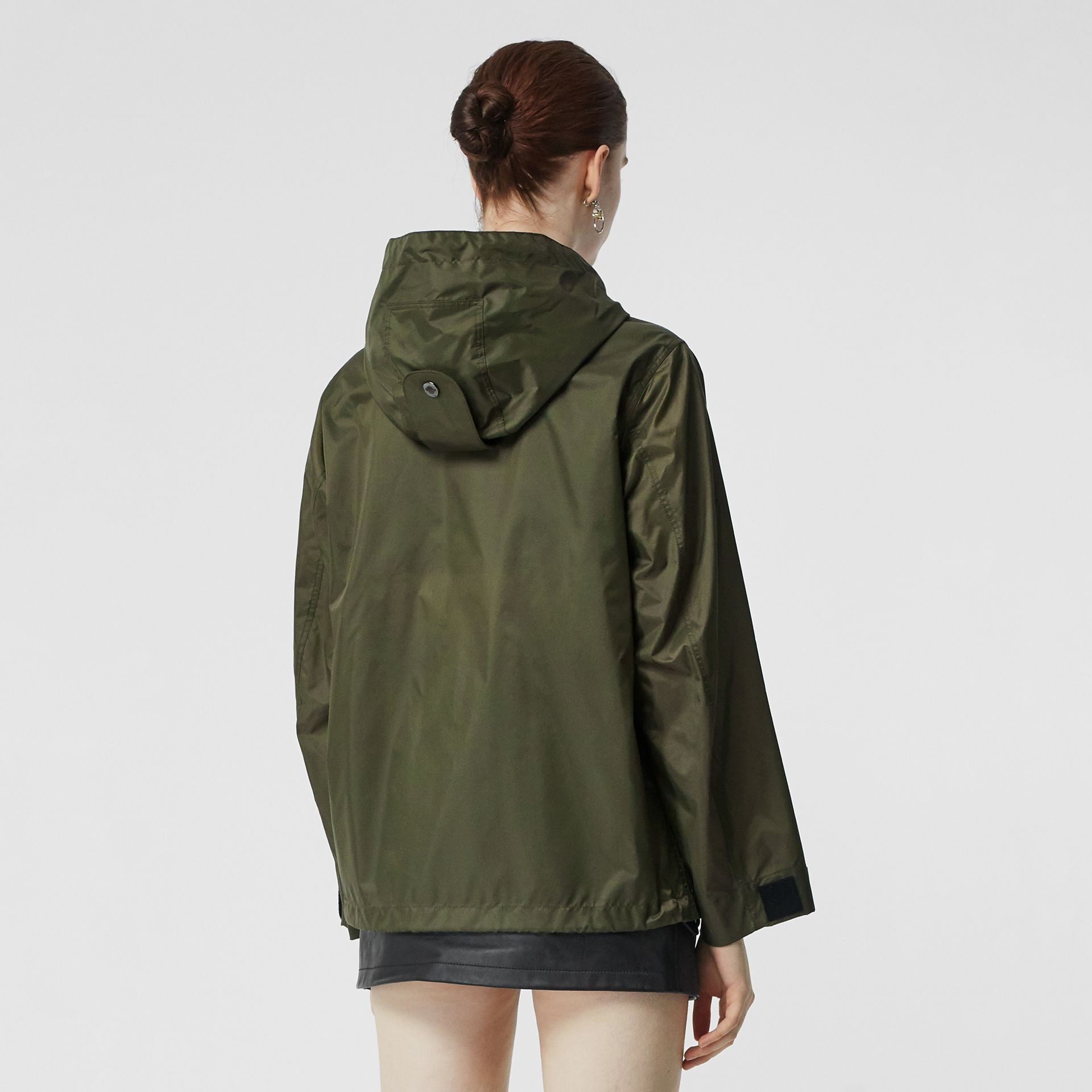 Monogram Motif Lightweight Hooded Jacket in Light Olive - Women | Burberry United States - gallery image 2