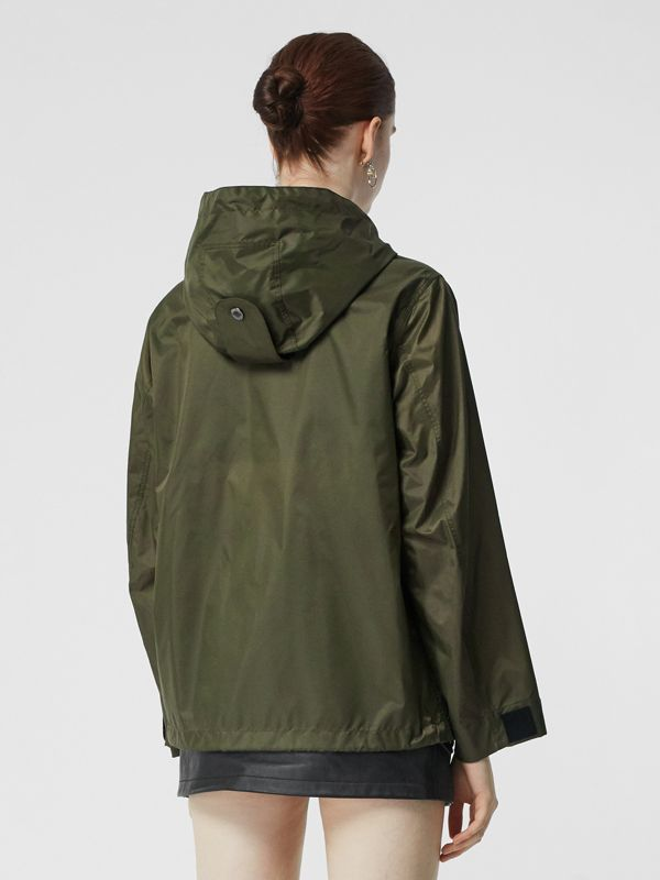 Monogram Motif Lightweight Hooded Jacket in Light Olive - Women | Burberry United States - cell image 2