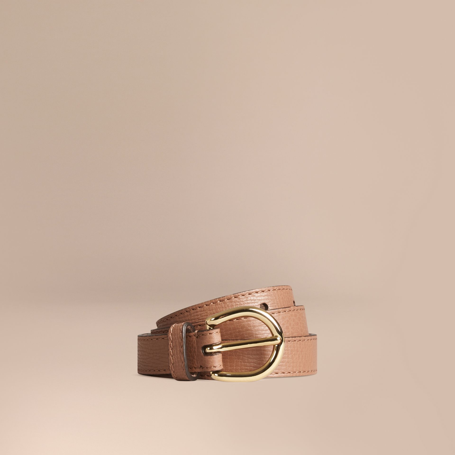 Dark sand Grainy Leather Belt Dark Sand - gallery image 1