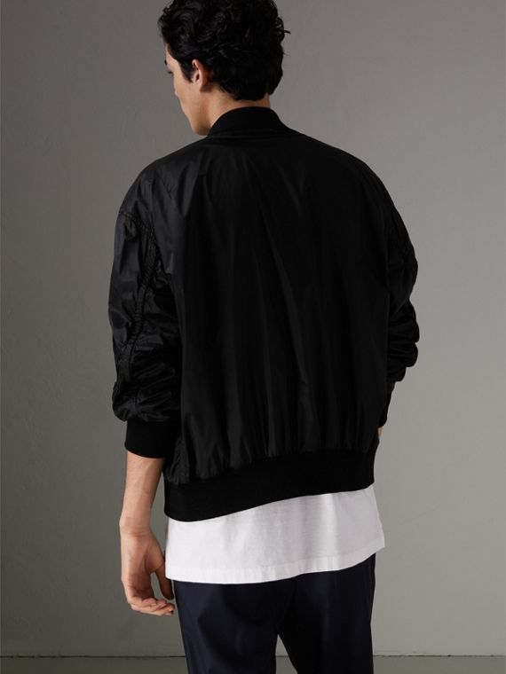 Lightweight Technical Bomber Jacket in Black - Men | Burberry Australia - cell image 2