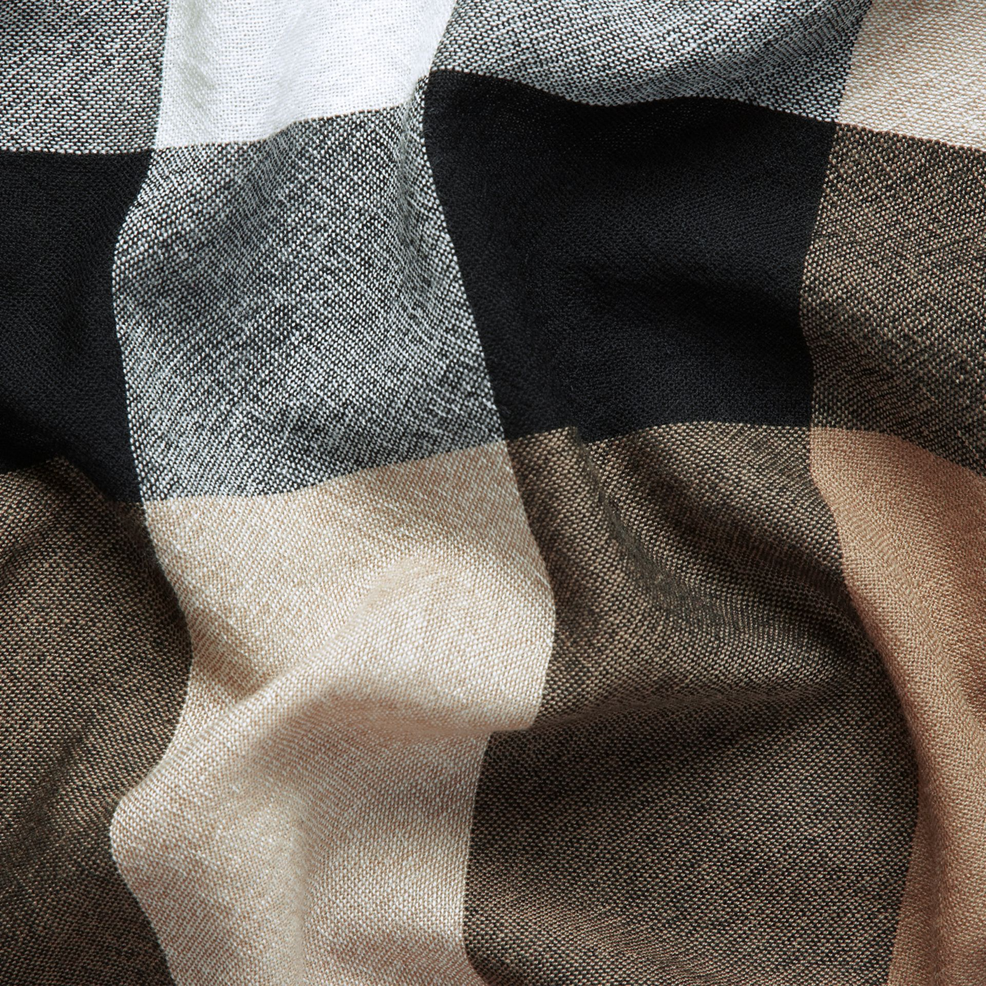 Check Wool Square - Large in House | Burberry - gallery image 2