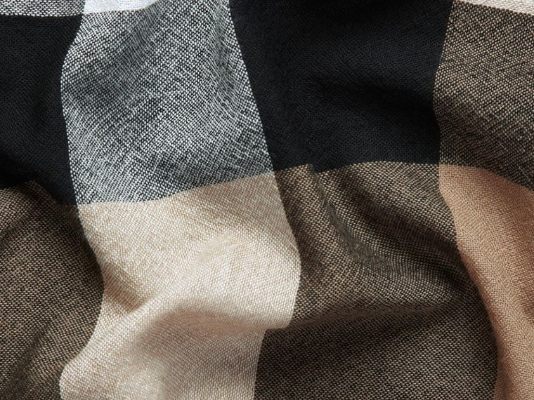 Check Wool Square - Large in House | Burberry - cell image 1