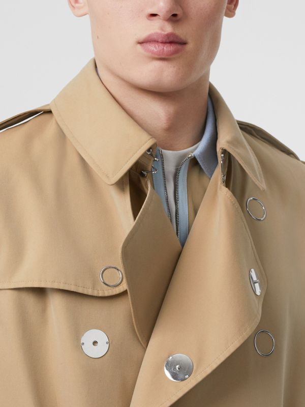 Sleeveless Cotton Gabardine Trench Coat in Honey | Burberry - cell image 3