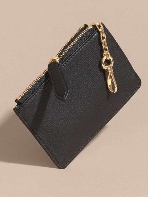 Riveted Grainy Leather Zip-top Wallet - cell image 3
