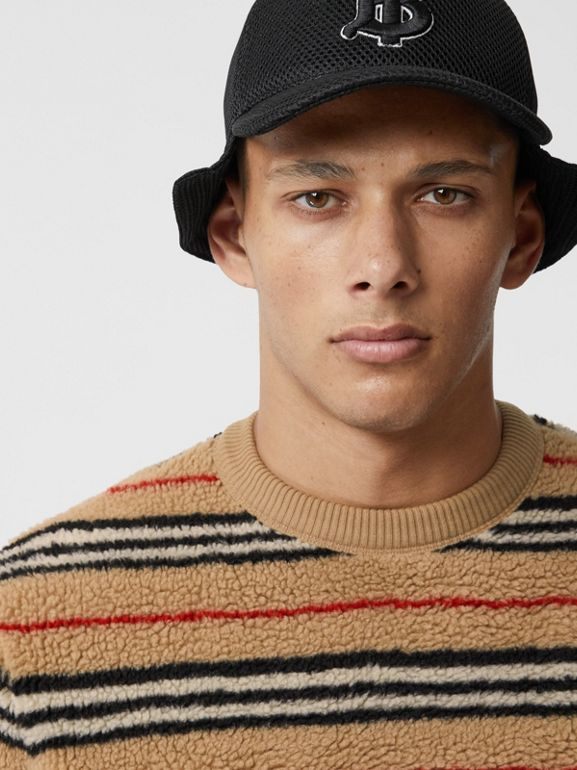 Icon Stripe Fleece Sweatshirt in Archive Beige - Men | Burberry - cell image 1