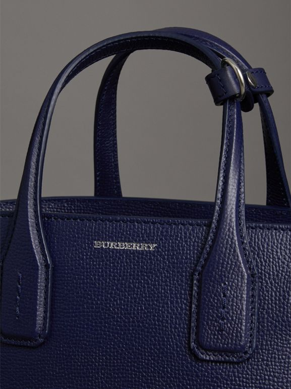 The Small Banner in Leather and Vintage Check in Regency Blue - Women | Burberry Australia - cell image 1