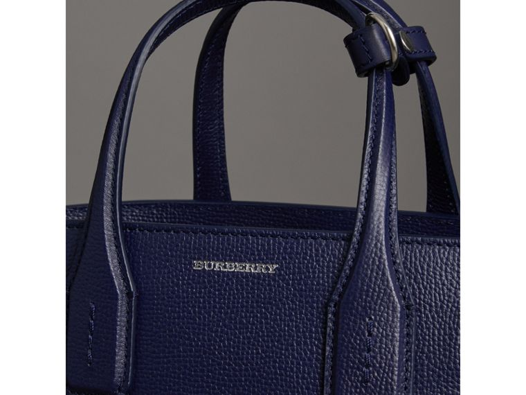 The Small Banner in Leather in Regency Blue - Women | Burberry - cell image 1