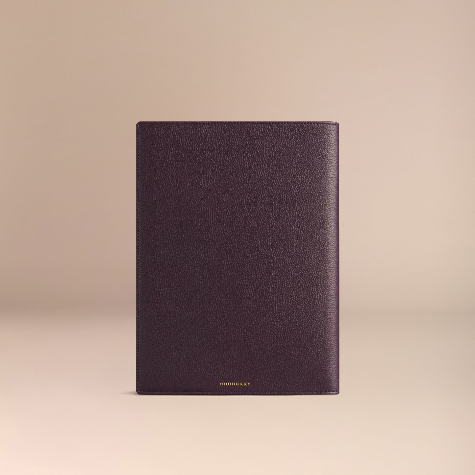 Grainy Leather A4 Notebook in Dark Amethyst - gallery image 4
