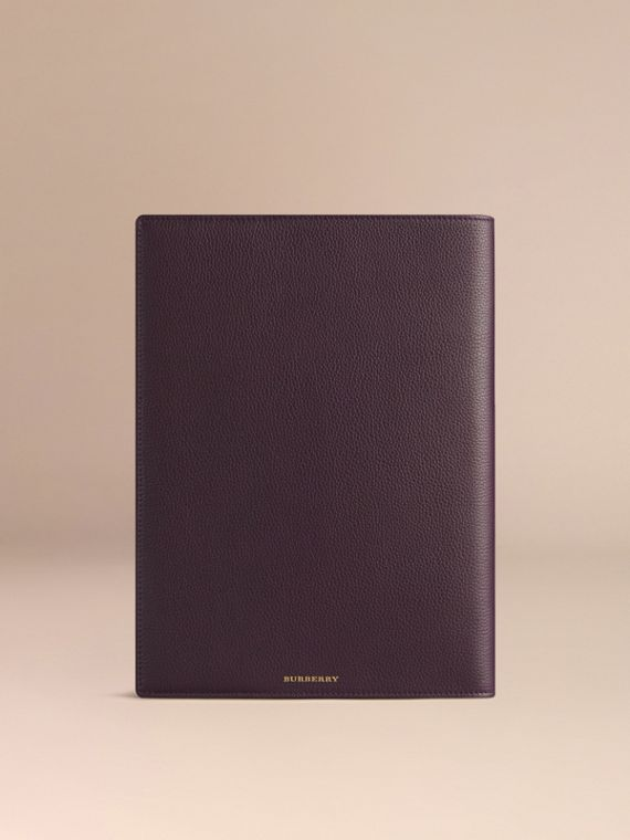 Grainy Leather A4 Notebook Dark Amethyst - cell image 3