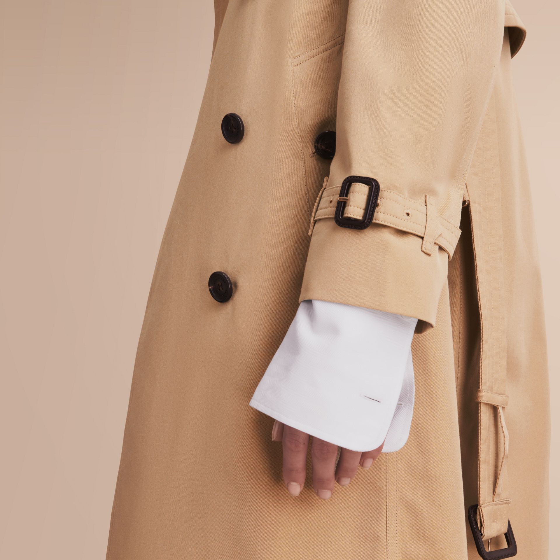 The Kensington – Extra-long Heritage Trench Coat in Honey - gallery image 5