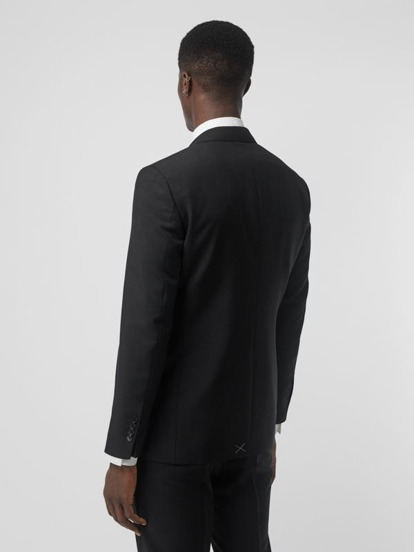 Slim Fit Wool Mohair Tailored Jacket in Black - Men | Burberry United Kingdom - cell image 2