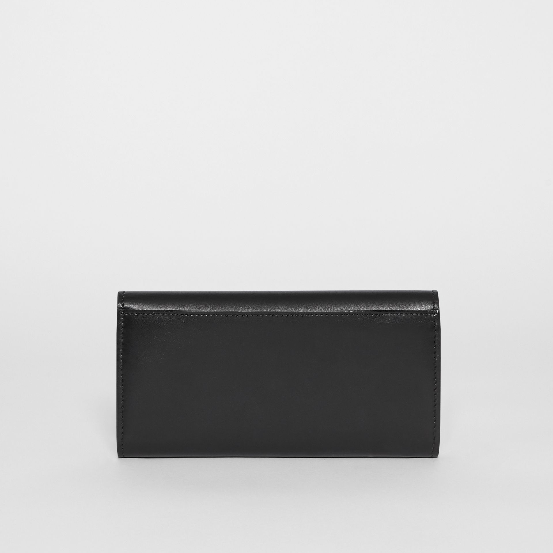 Monogram Motif Leather Continental Wallet in Black - Women | Burberry - gallery image 5