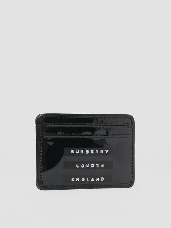 Tape Print Laminated Card Case in Black - Women | Burberry - cell image 3