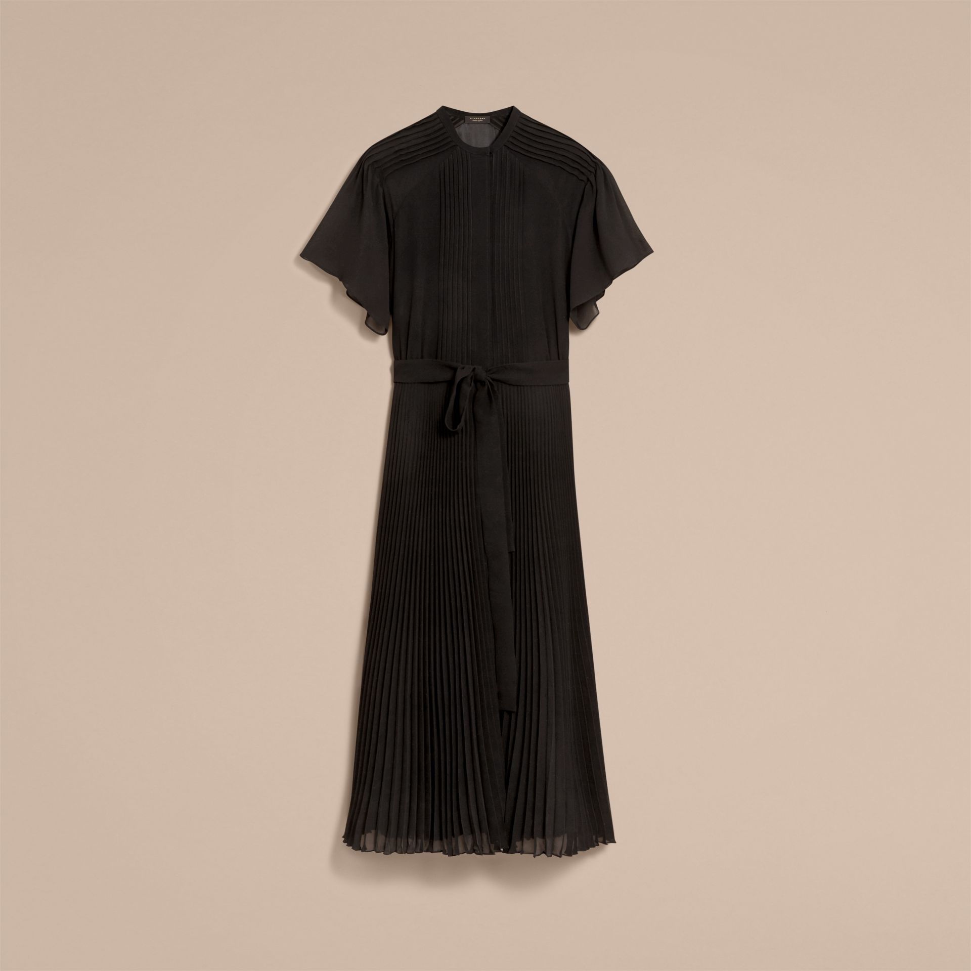 Pleated Silk Dress - Women | Burberry - gallery image 4