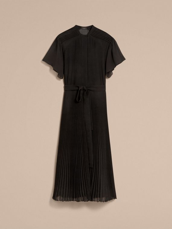 Pleated Silk Dress - Women | Burberry - cell image 3