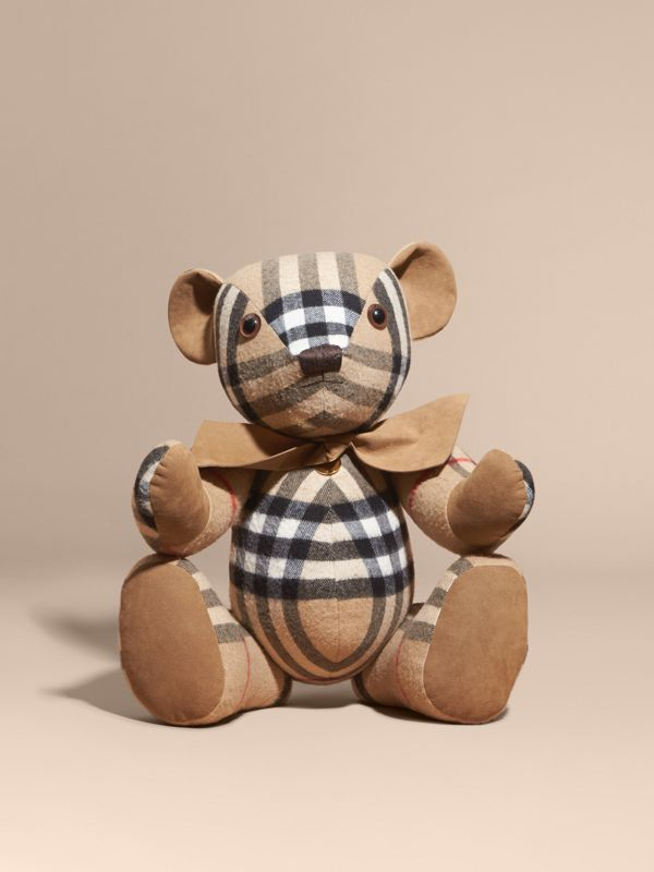 Large Thomas Bear in Check Cashmere in Camel - Children | Burberry Singapore - cell image 3