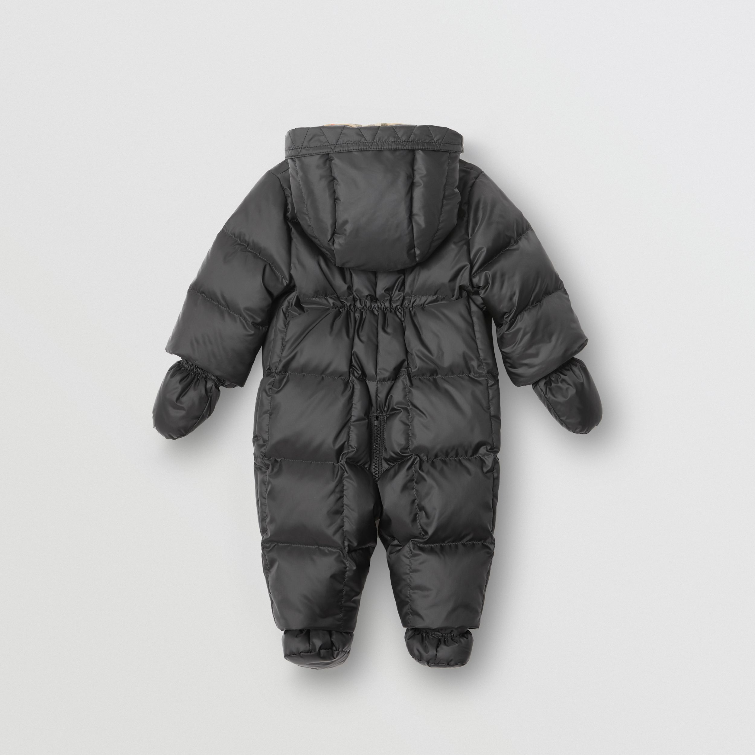 Logo Print Down-filled Puffer Suit in Black - Children | Burberry - 3