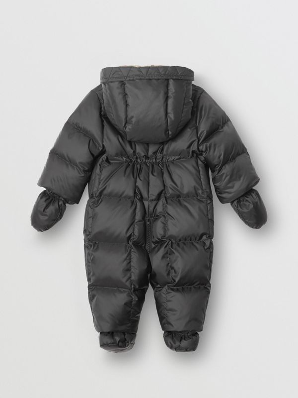Logo Print Down-filled Puffer Suit in Black - Children | Burberry - cell image 2