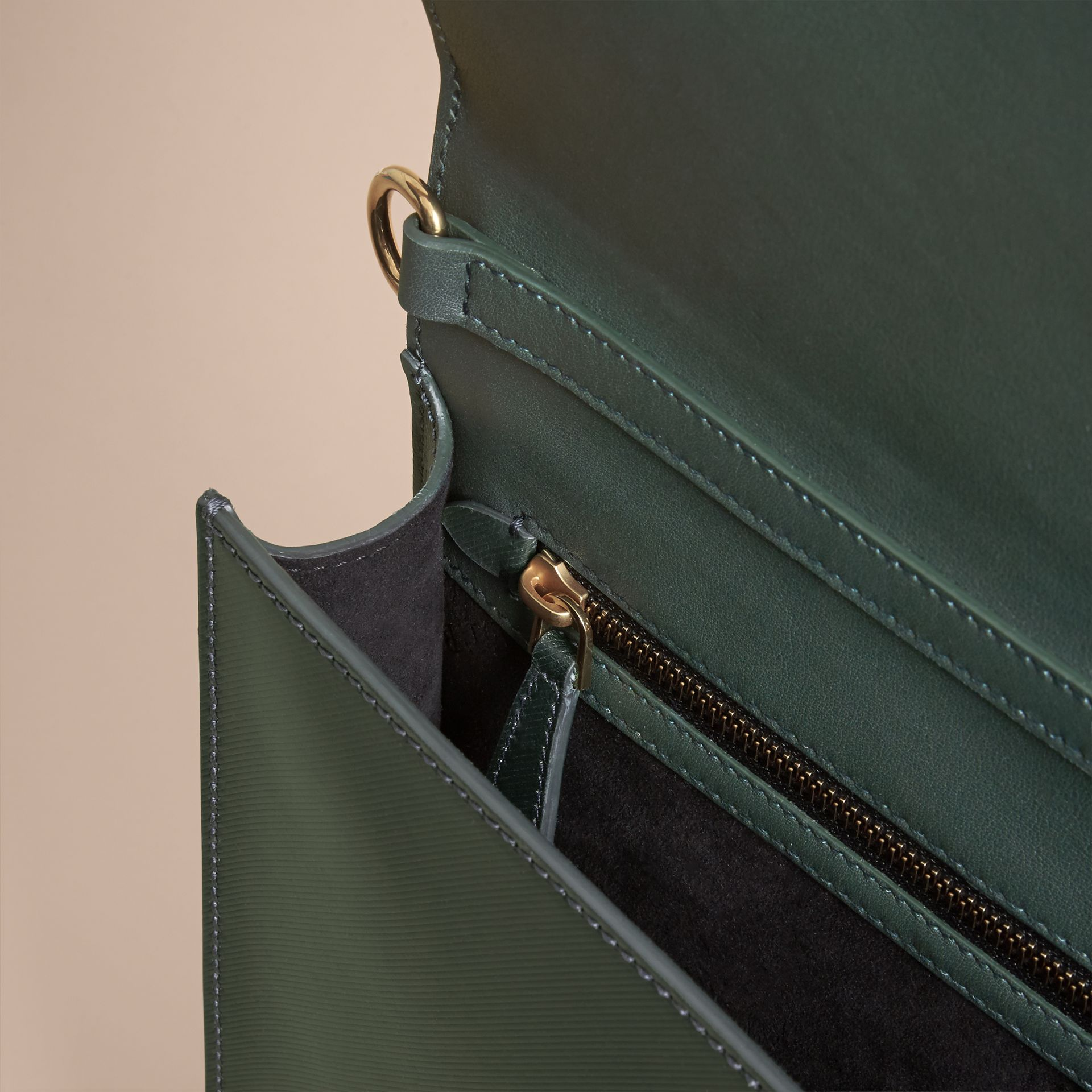 The Large DK88 Document Case in Dark Forest Green - Men | Burberry - gallery image 6