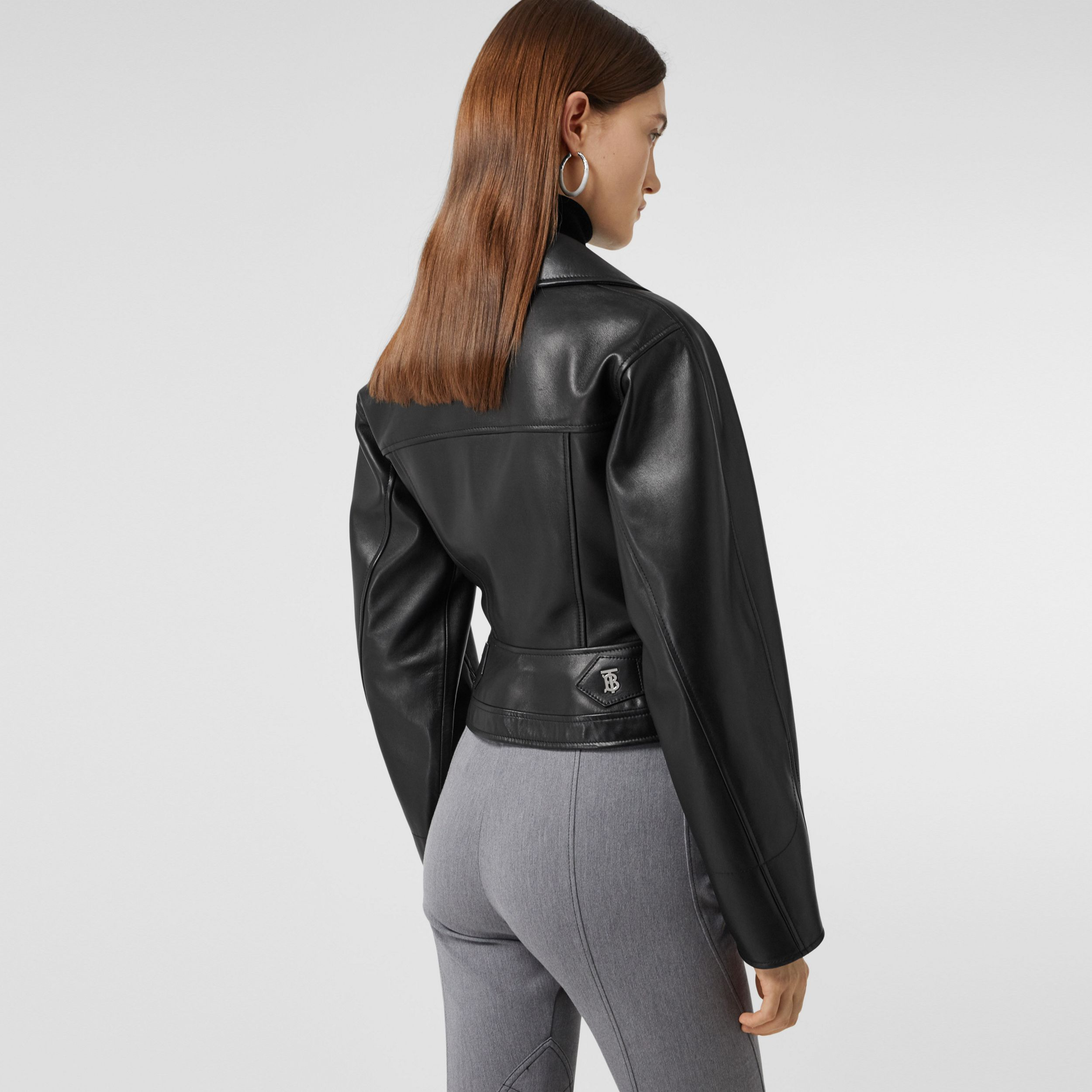 Lambskin Biker Jacket - Women | Burberry - 3