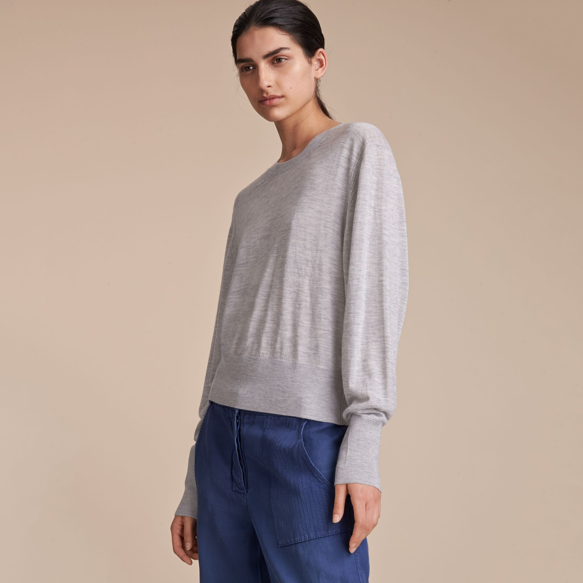 Crew Neck Cashmere Sweater - Women | Burberry - gallery image 4