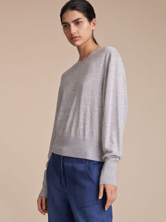 Crew Neck Cashmere Sweater - Women | Burberry - cell image 3