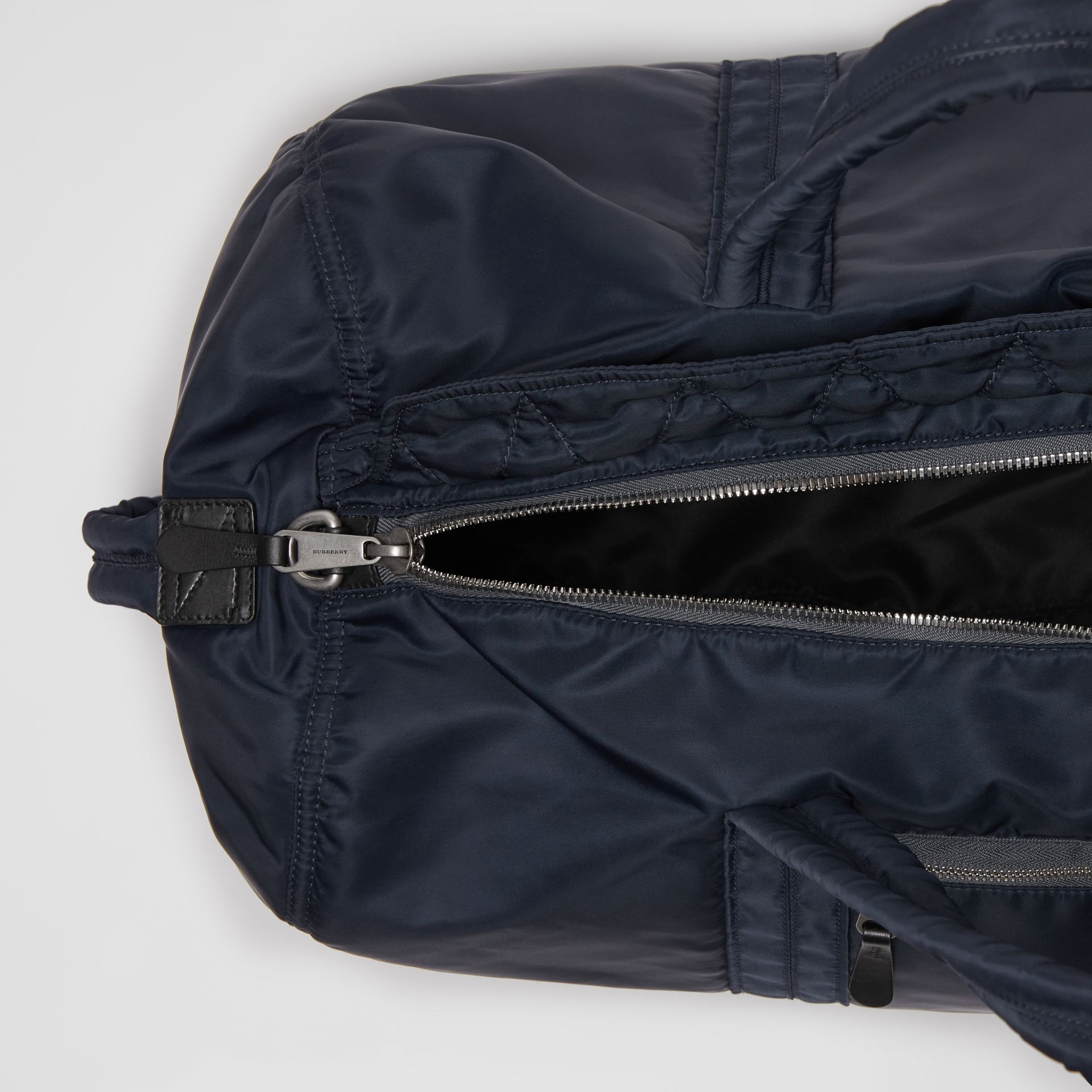 Large EKD Aviator Nylon and Leather Barrel Bag in Ink Blue - Men | Burberry United States - gallery image 5