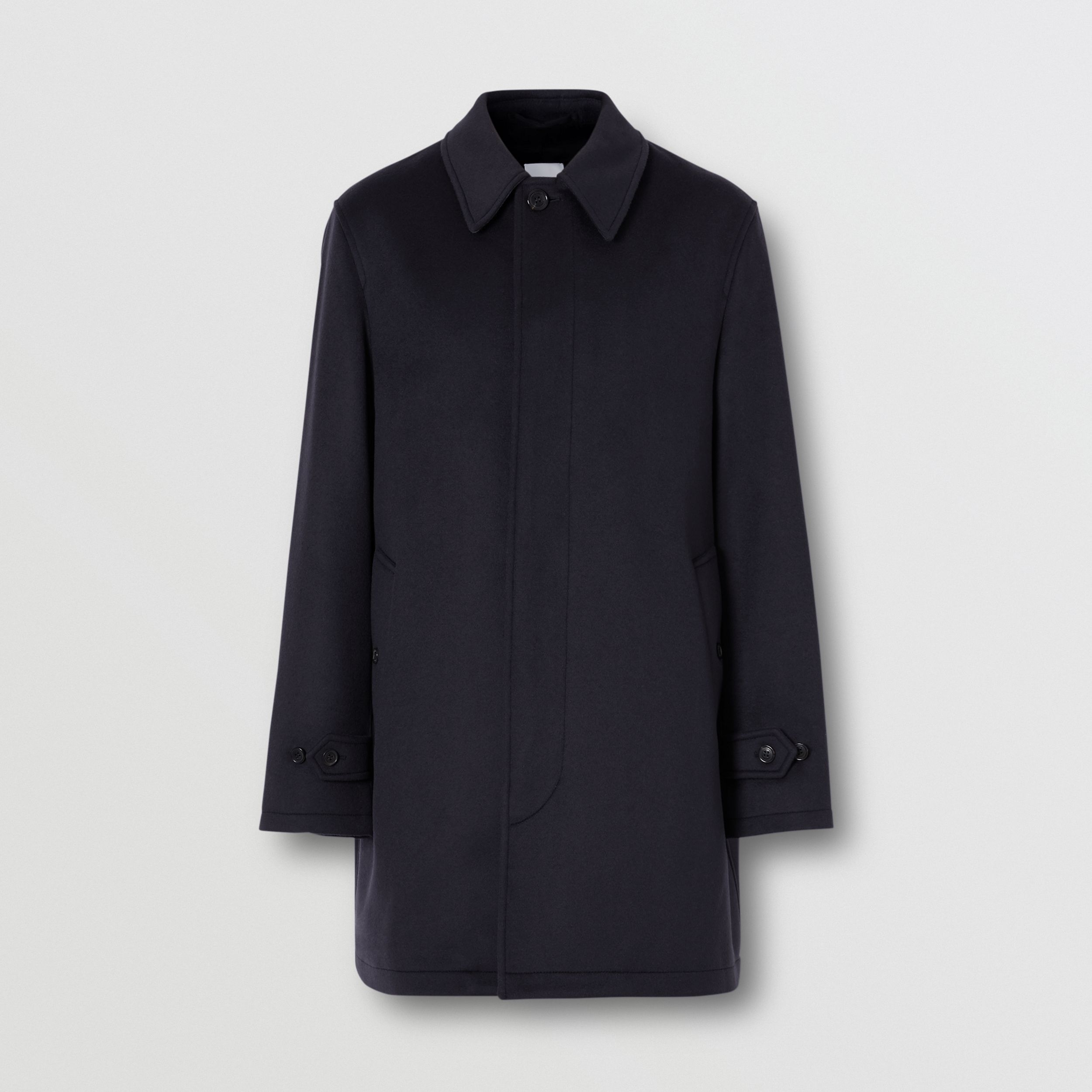 Wool Cashmere Car Coat in Navy - Men | Burberry United Kingdom - 4
