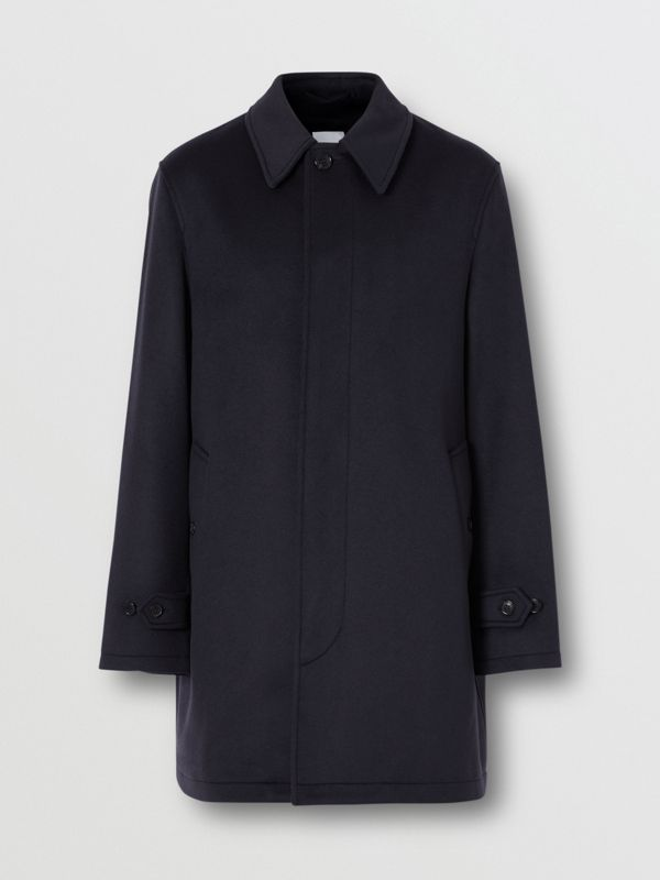 Wool Cashmere Car Coat in Navy - Men | Burberry Australia - cell image 3