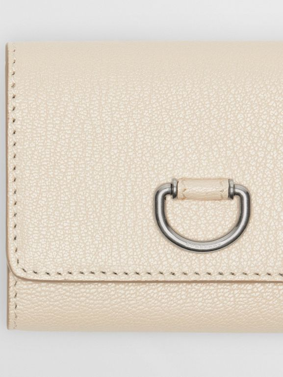 Small D-ring Leather Wallet in Stone - Women | Burberry United Kingdom - cell image 1