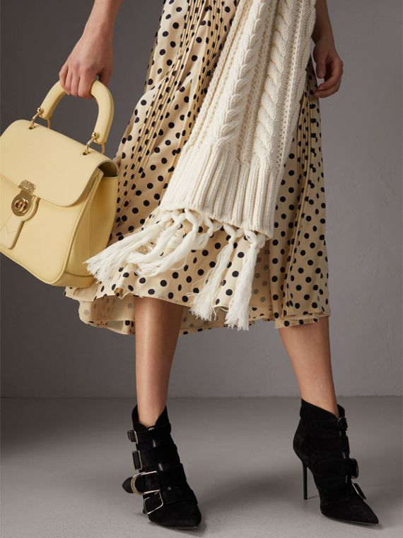 The Medium DK88 Top Handle Bag in Camomile Yellow - Women | Burberry Australia - cell image 3