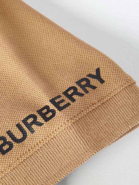Polo color-block en coton (Beige D'archive) | Burberry Canada - cell image 1