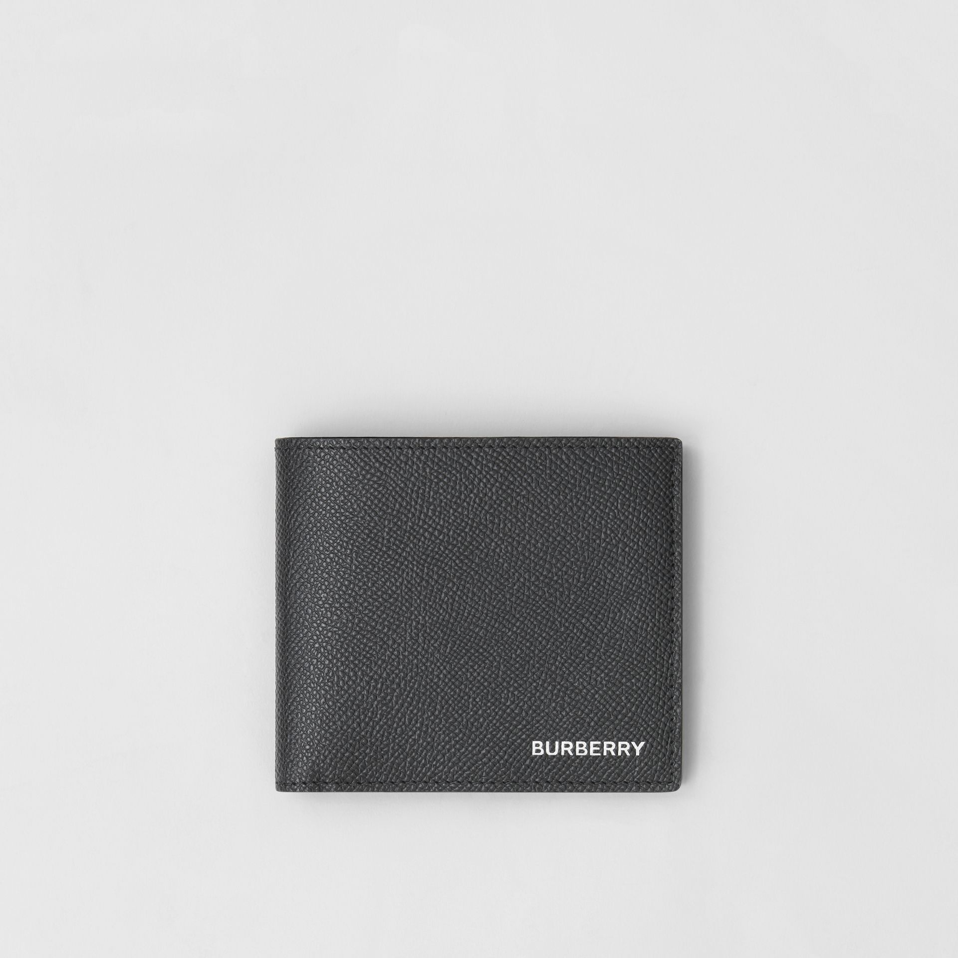Grainy Leather International Bifold Coin Wallet in Black - Men | Burberry Canada - gallery image 0