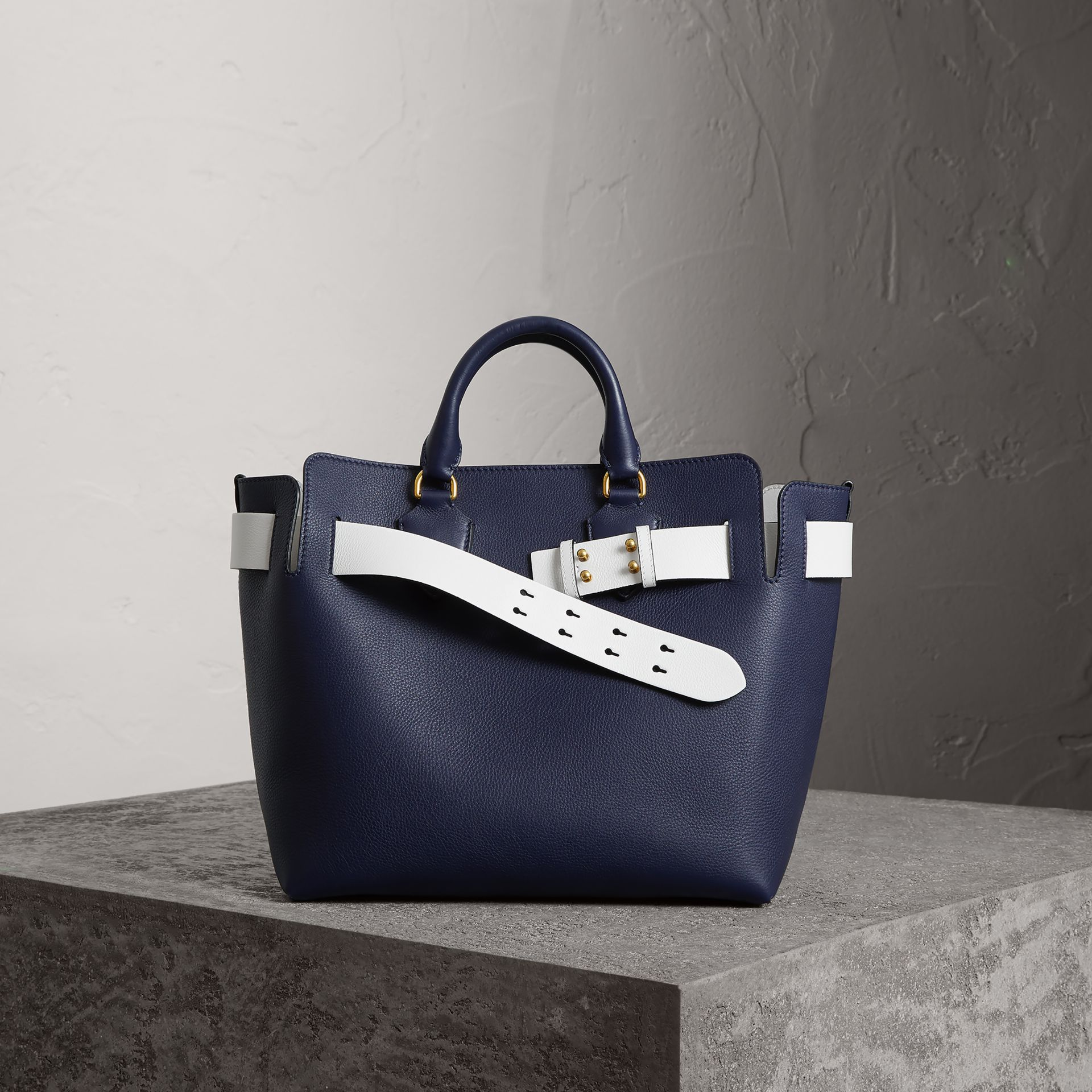 Burberry The Medium Leather Belt Bag In Blue   ModeSens b0ce54fd51