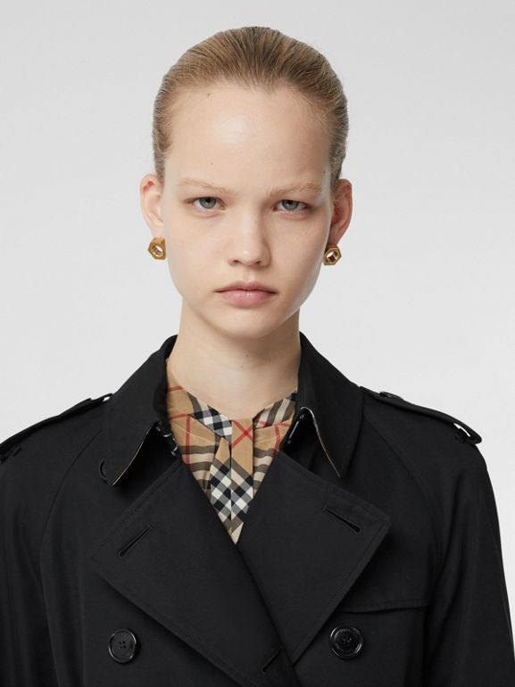 Trench Coat Waterloo (Preto) - Mulheres | Burberry - cell image 1