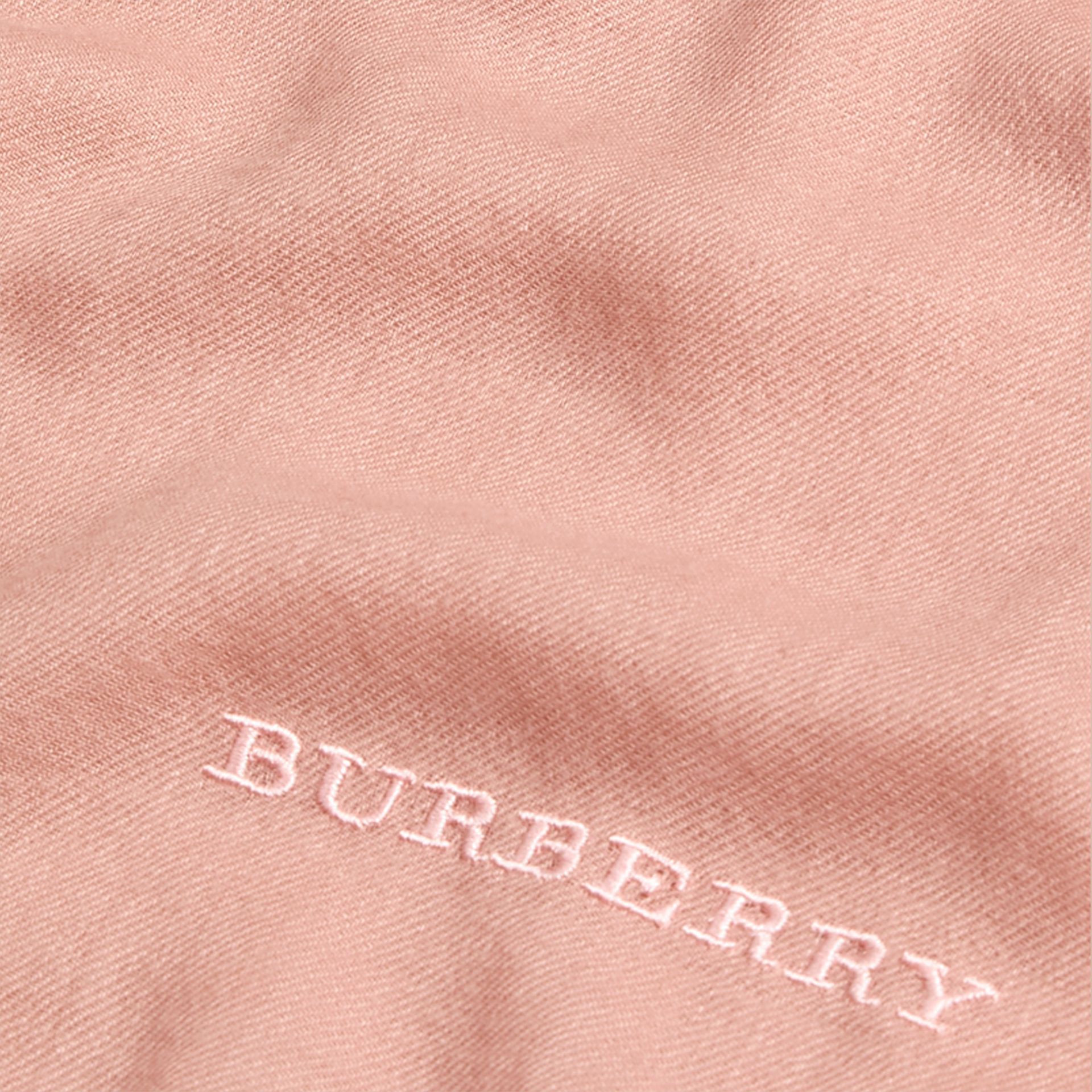 The Lightweight Cashmere Scarf in Ash Rose | Burberry Australia - gallery image 5