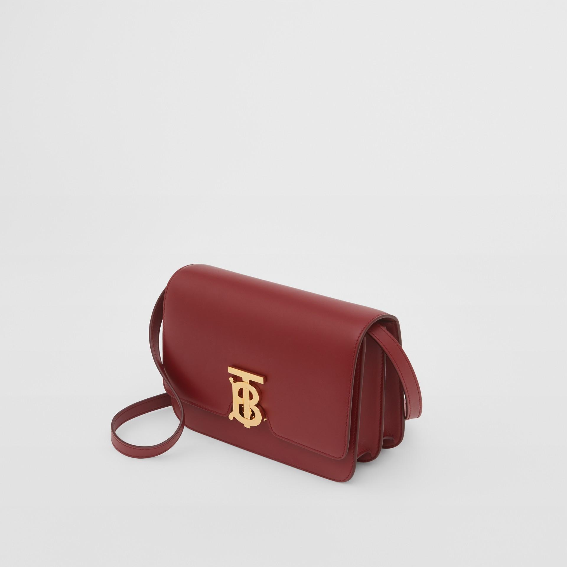Small Leather TB Bag in Dark Crimson - Women   Burberry - gallery image 3