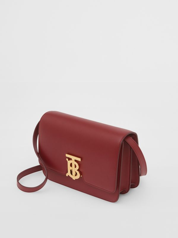 Small Leather TB Bag in Dark Crimson - Women   Burberry - cell image 3