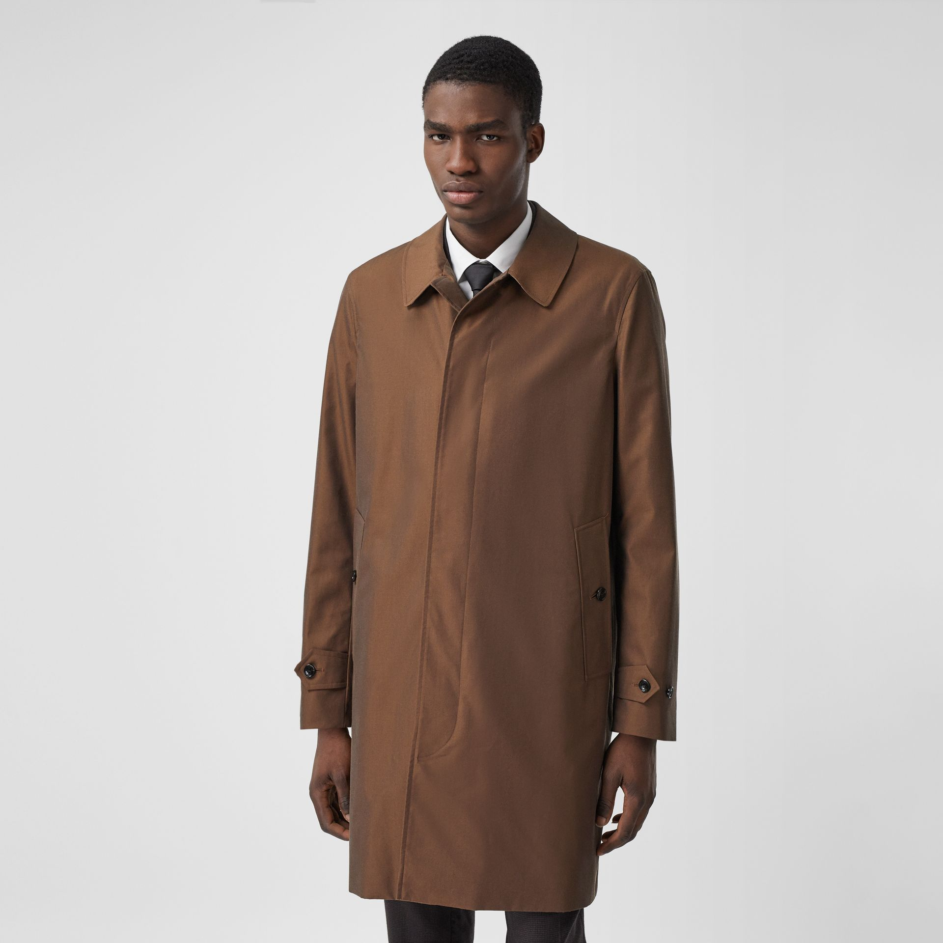 The Pimlico Heritage Car Coat in Amber Brown - Men | Burberry Canada - gallery image 6
