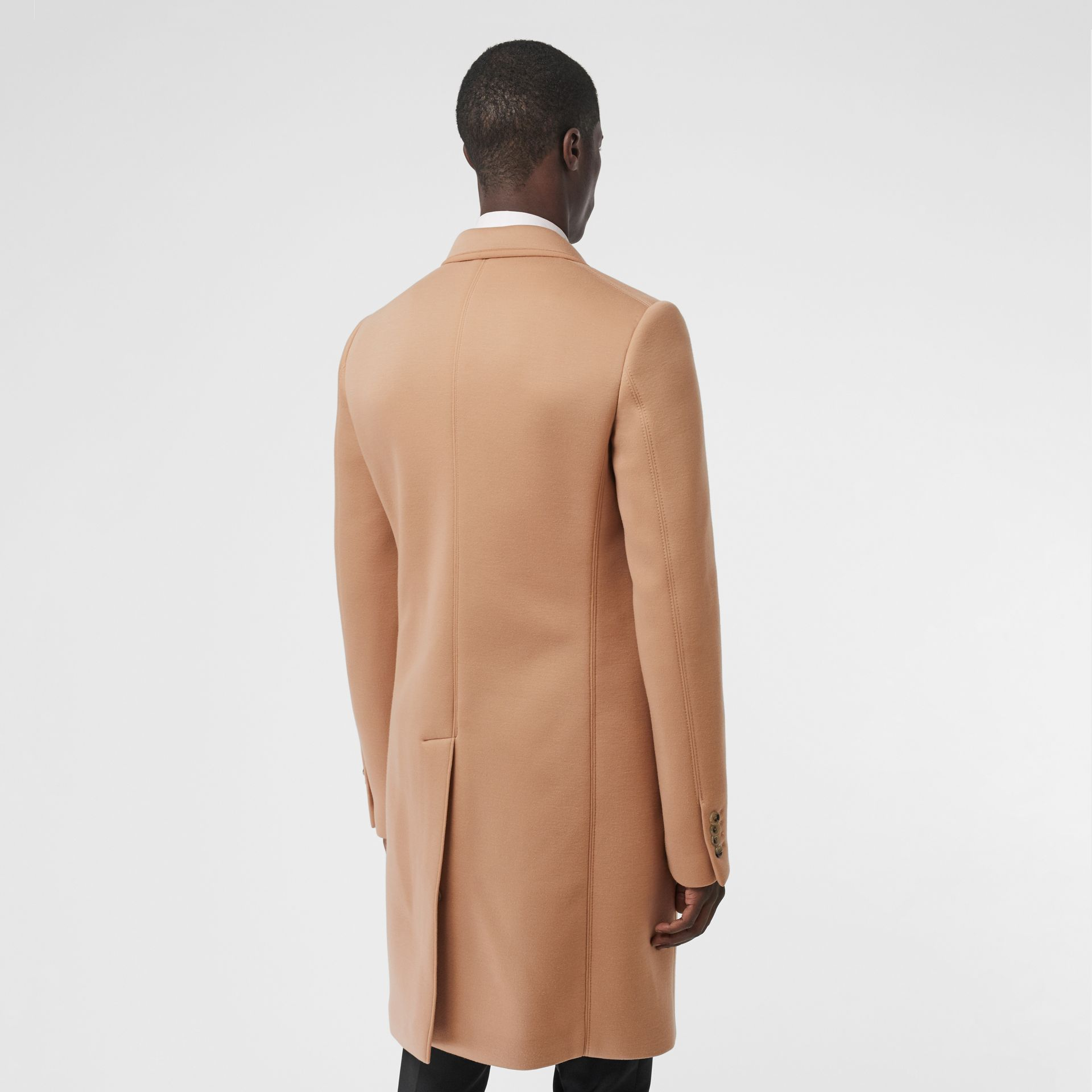 Neoprene Tailored Coat in Beige | Burberry Singapore - gallery image 2