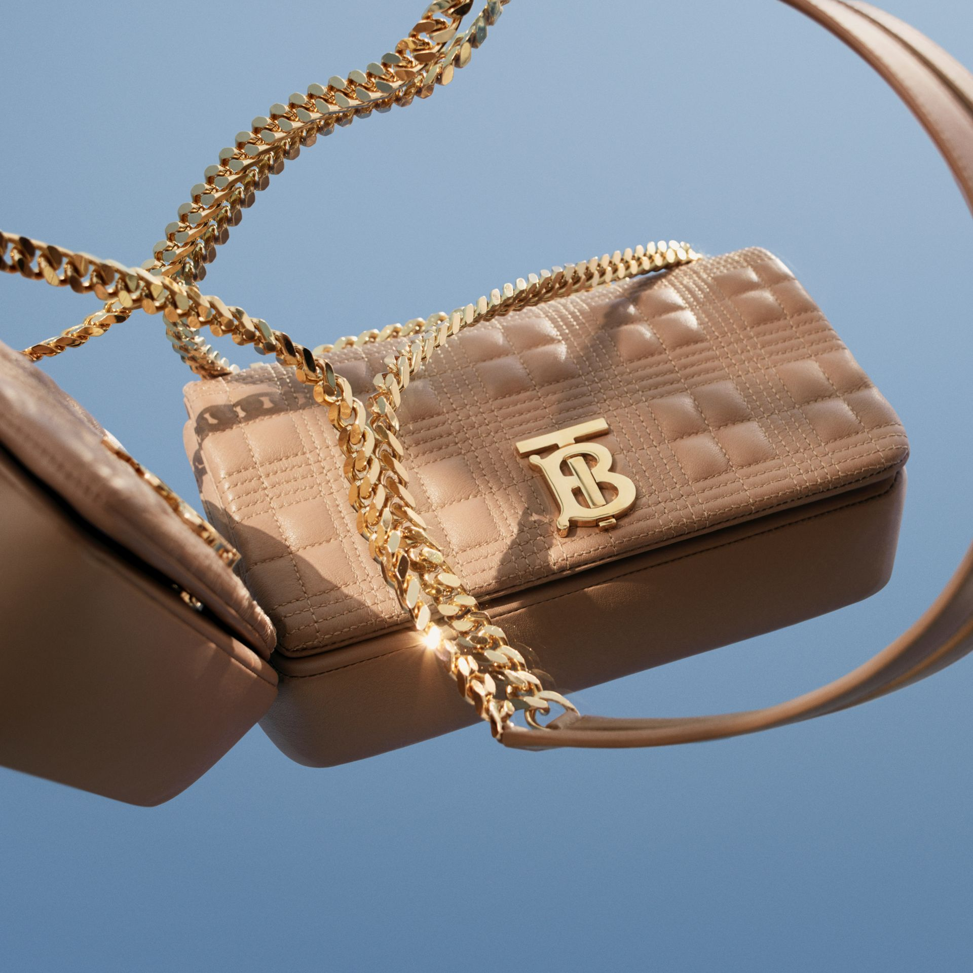 Small Quilted Lambskin Lola Bag in Camel | Burberry United Kingdom - gallery image 1