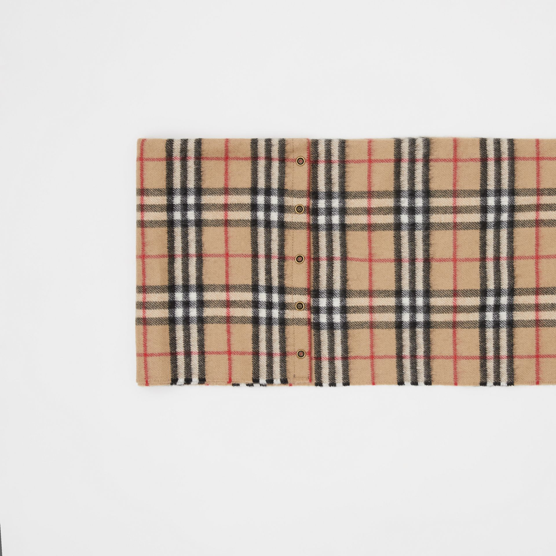 Vintage Check Cashmere Snood in Archive Beige - Children | Burberry - gallery image 1