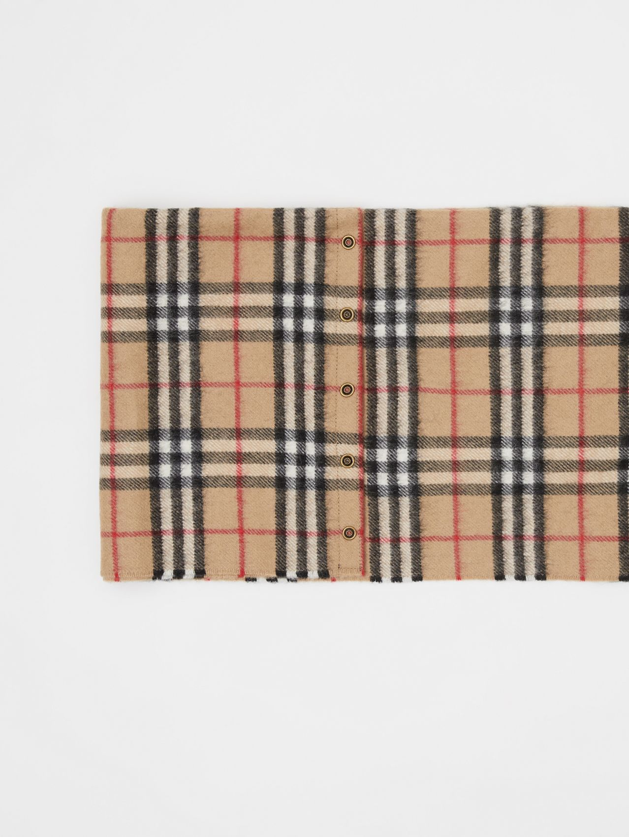 Vintage Check Cashmere Snood in Archive Beige